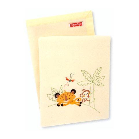 Somma Coperta ricamata culla/carrozzina Fisher Price Story III 80478.11 - 999 giallo