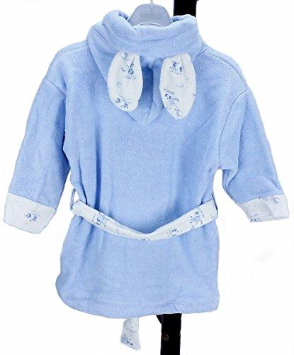 Baby in spugna accappatoio pendente a forma di carlino con salvietta da mare e scarpe 189wumv in 100% cotone Blu blu Da 0 a 6 mesi