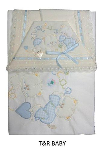COORDINATO CULLA IN COTONE PIQUET T&R BABY ART 459 DIS 31 COLORE A SCELTA