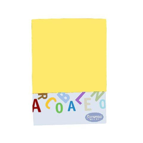 Somma Federa tinta unita per carrozzina e culla - Arcobaleno giallo [414]