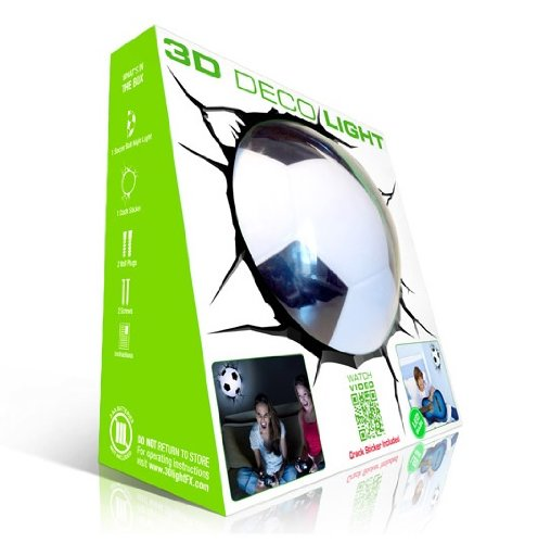 Soccer Lamp - Lampada da parete 3D - Pallone da Calcio