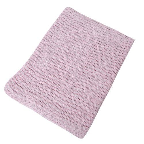 Coperta per neonato 100% Cotone Cellulare per Neonati (6 Colori) (100cmx150cm) (Rosa)