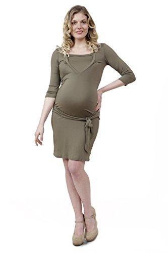 Flay Abito Premaman materity dress gravidanza, 2 in 1 per allattare al seno lunghezza ginocchio