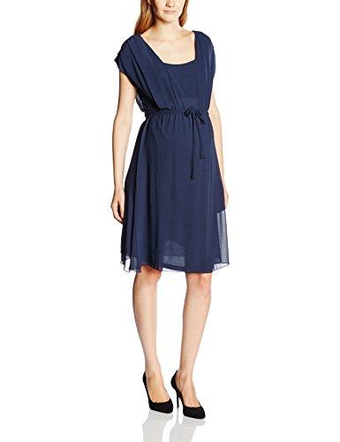 MAMALICIOUS - Mlnew Ines Mary S/L Woven Dress NF, Abito premaman da donna, nero (schwarz - black iris), Size 10 (Taglia produttore:Medium)